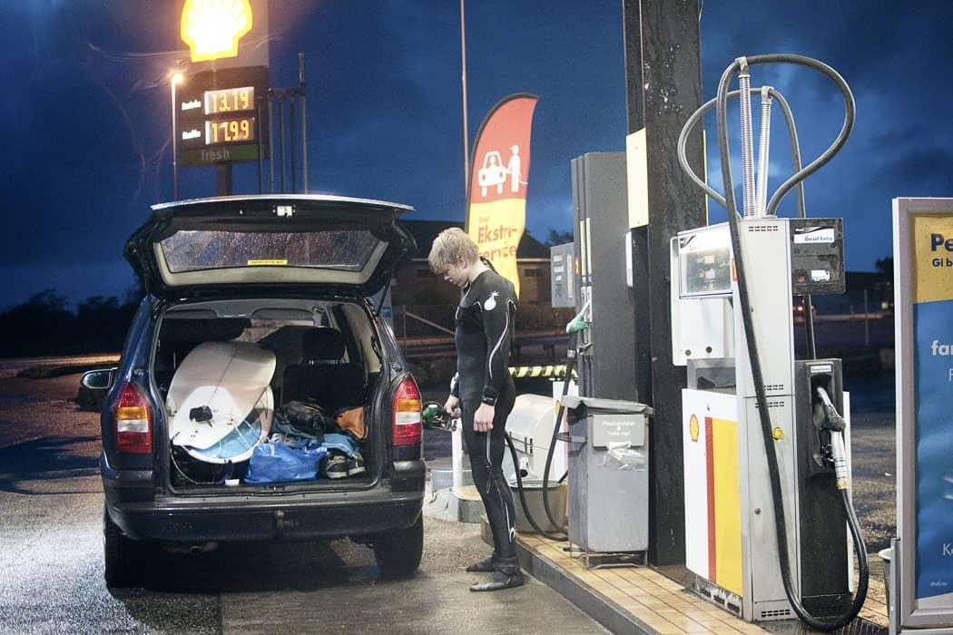 Eivind på klepp bensinstasjon