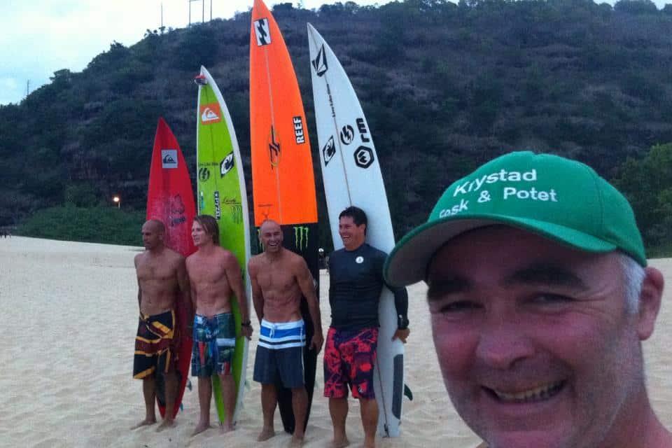 188 dager med surf på ett år = Et bra år for Per Benjaminsen