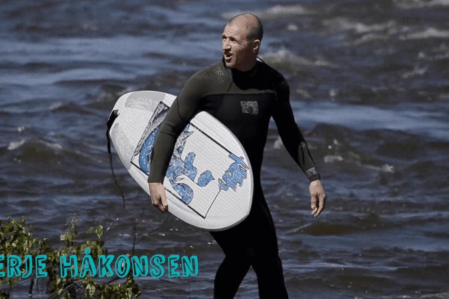 Fra snø til sjø, Terje Håkonsen og Ståle Sandbech prøver elvesurf