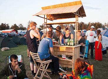 Festivalcampen er ett område som har sin egen atmosfære.