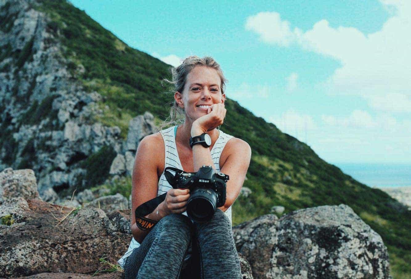 Kristine Tofte med kamera