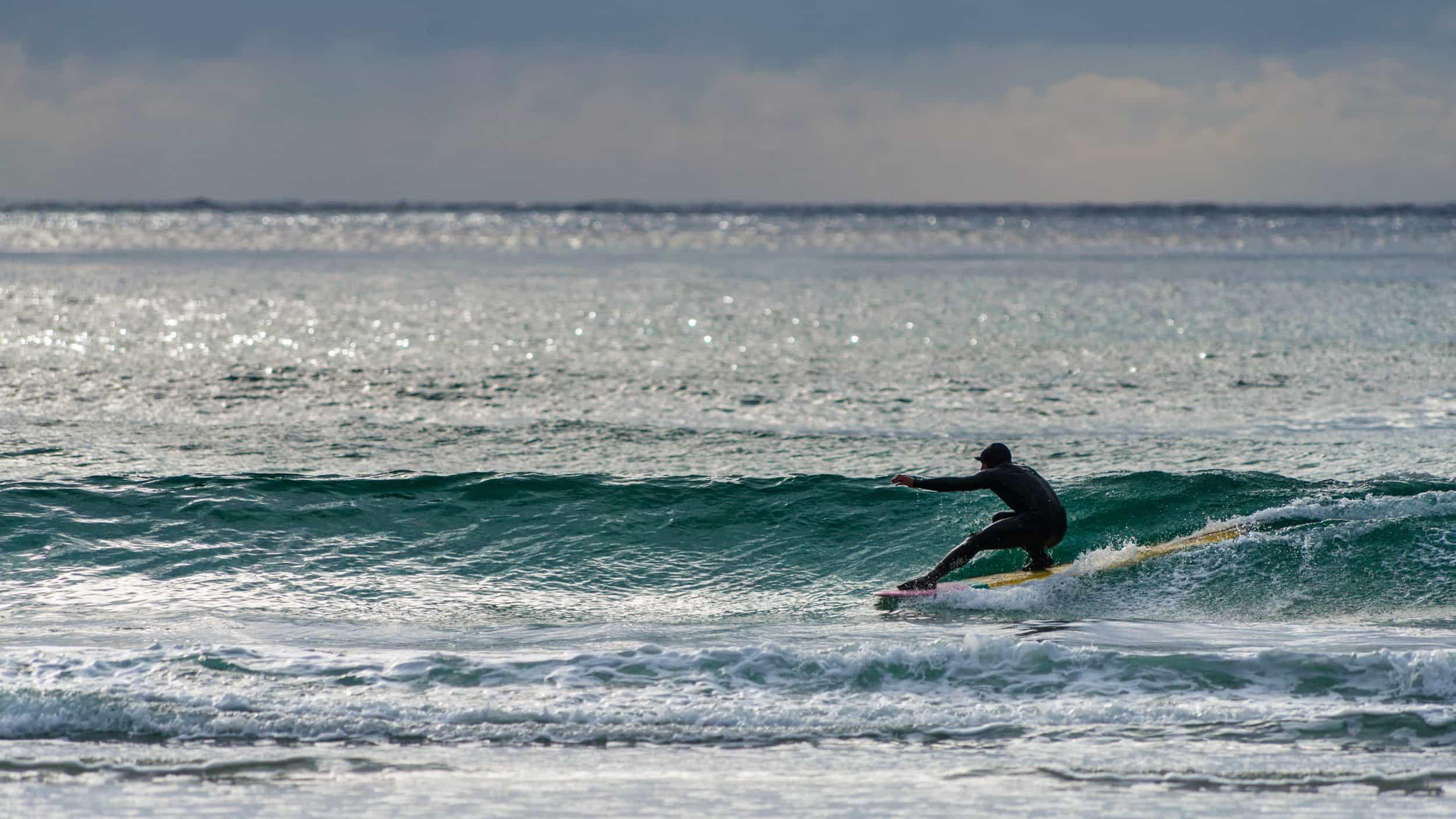 B. Joakim Borgen - Bilde er tatt 11.07 i Hoddevik. Surfer Øyvind Iversen