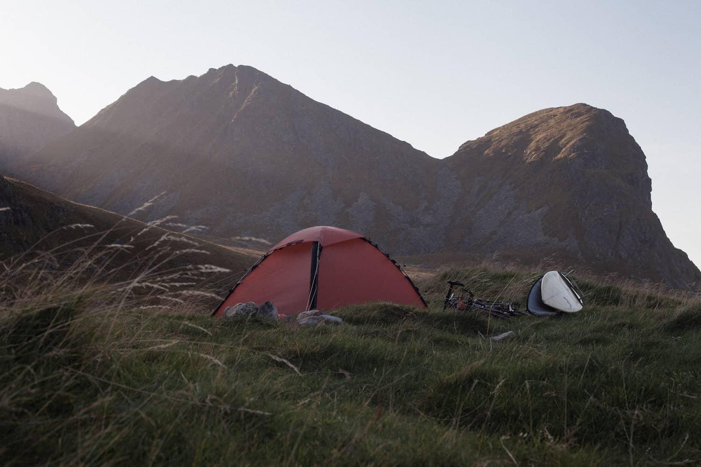 Sykkel og telt i Lofoten