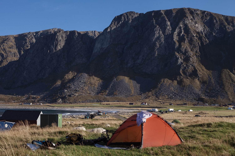 Telt i Lofoten