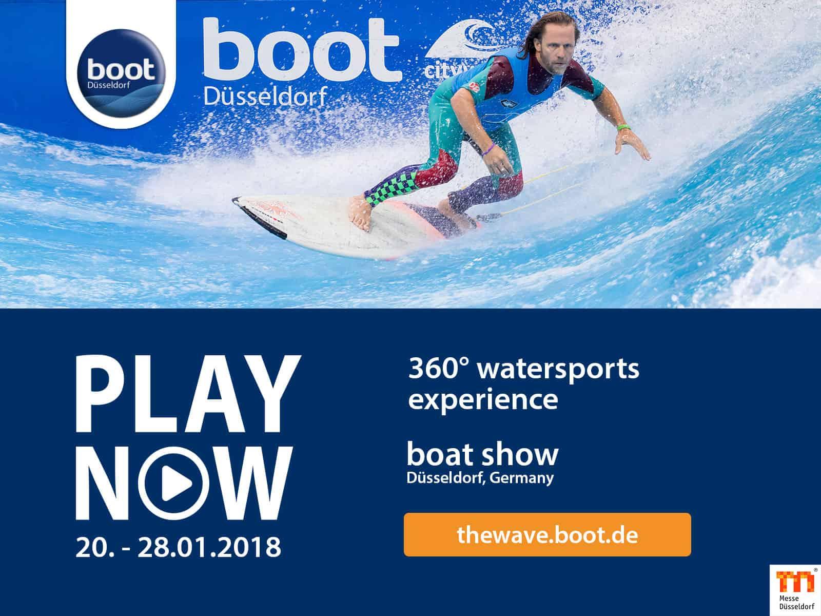 Innendørs elvesurfing for alle – boot messen i Düsseldorf januar 2018