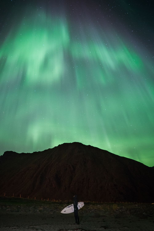 Nordlys i Lofoten.