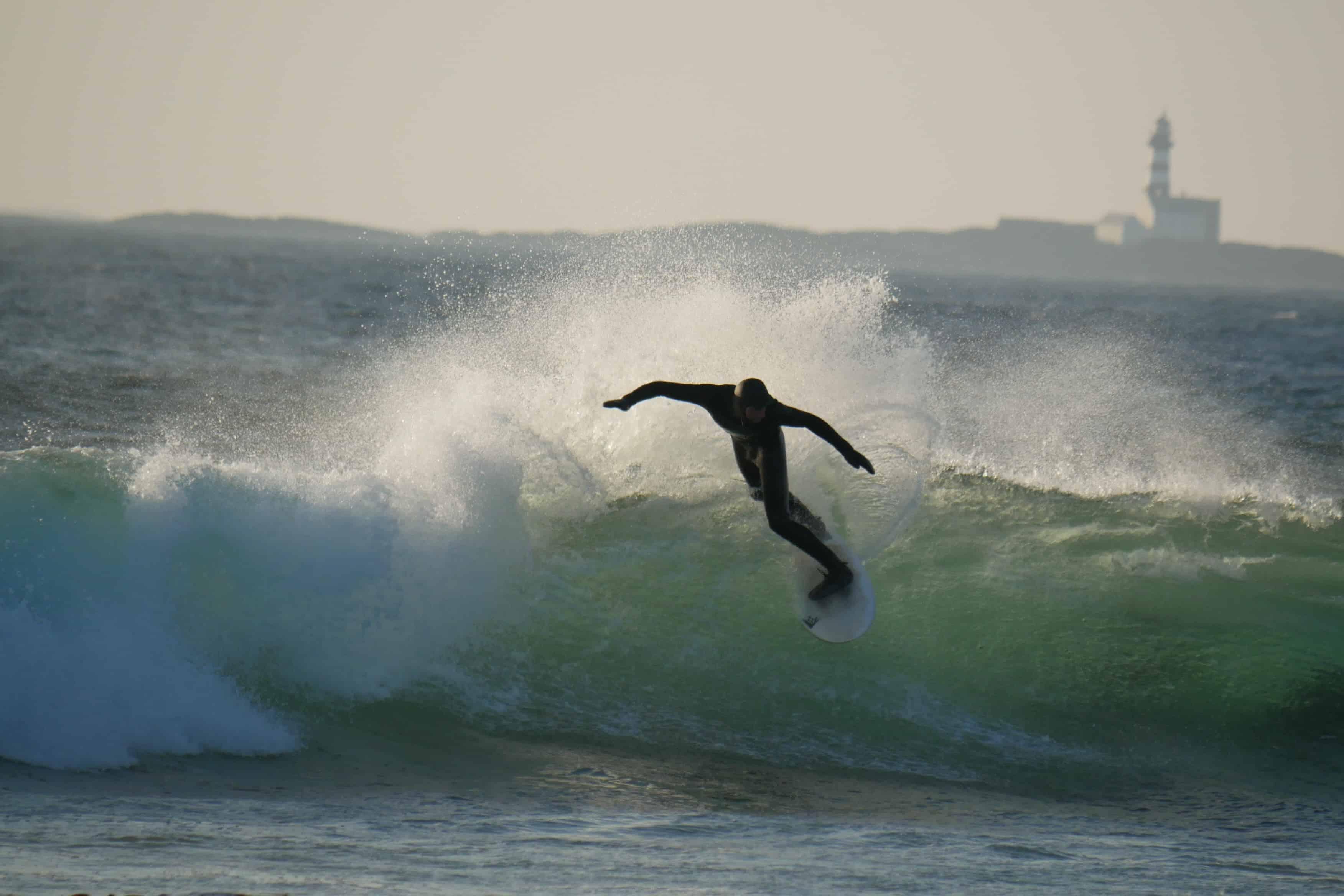 Surfer på Jæren.