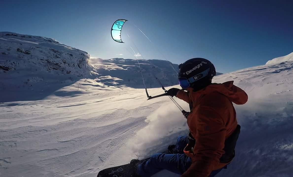 Kiter på fjellet