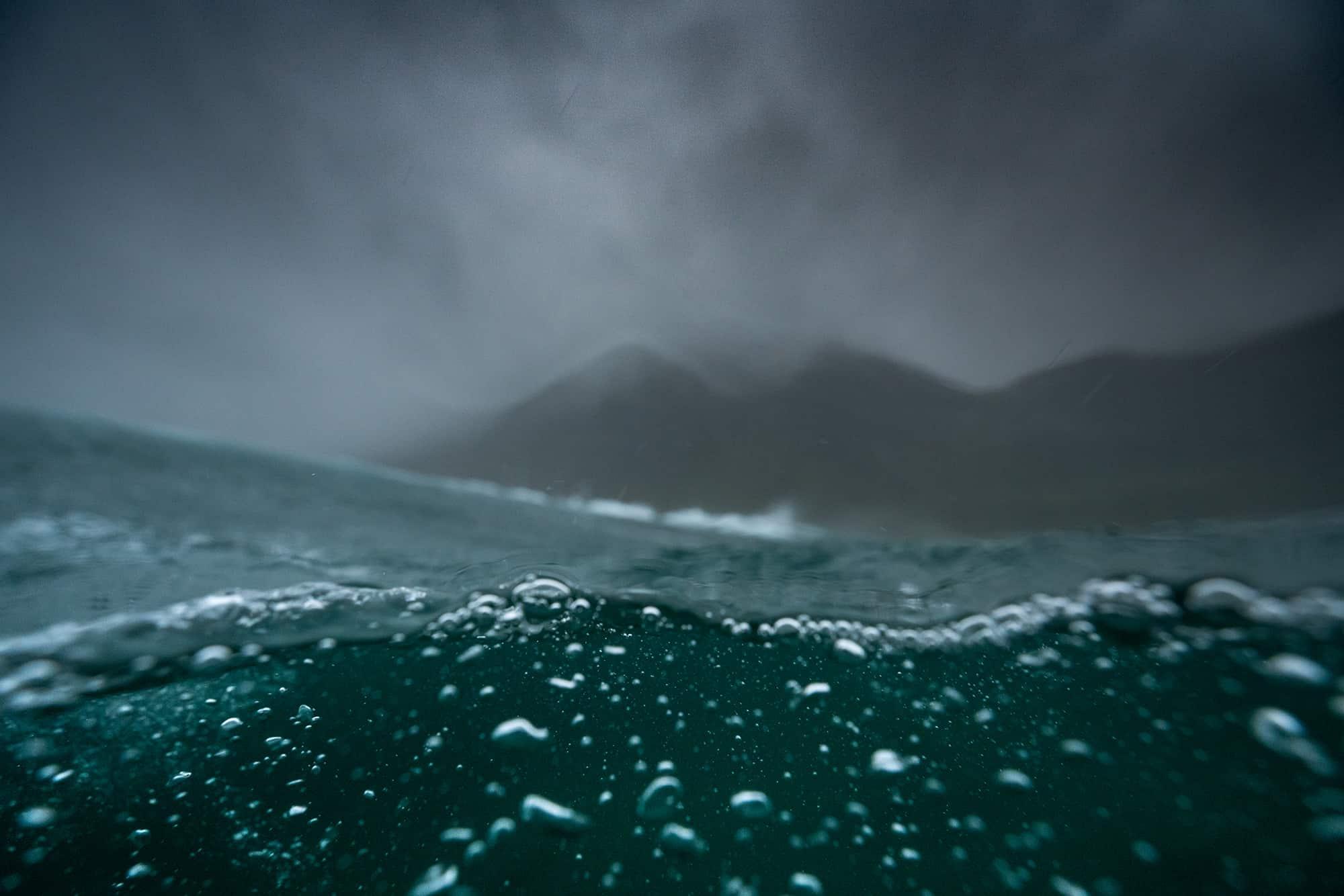 Bølger, hav og vann i Hoddevik