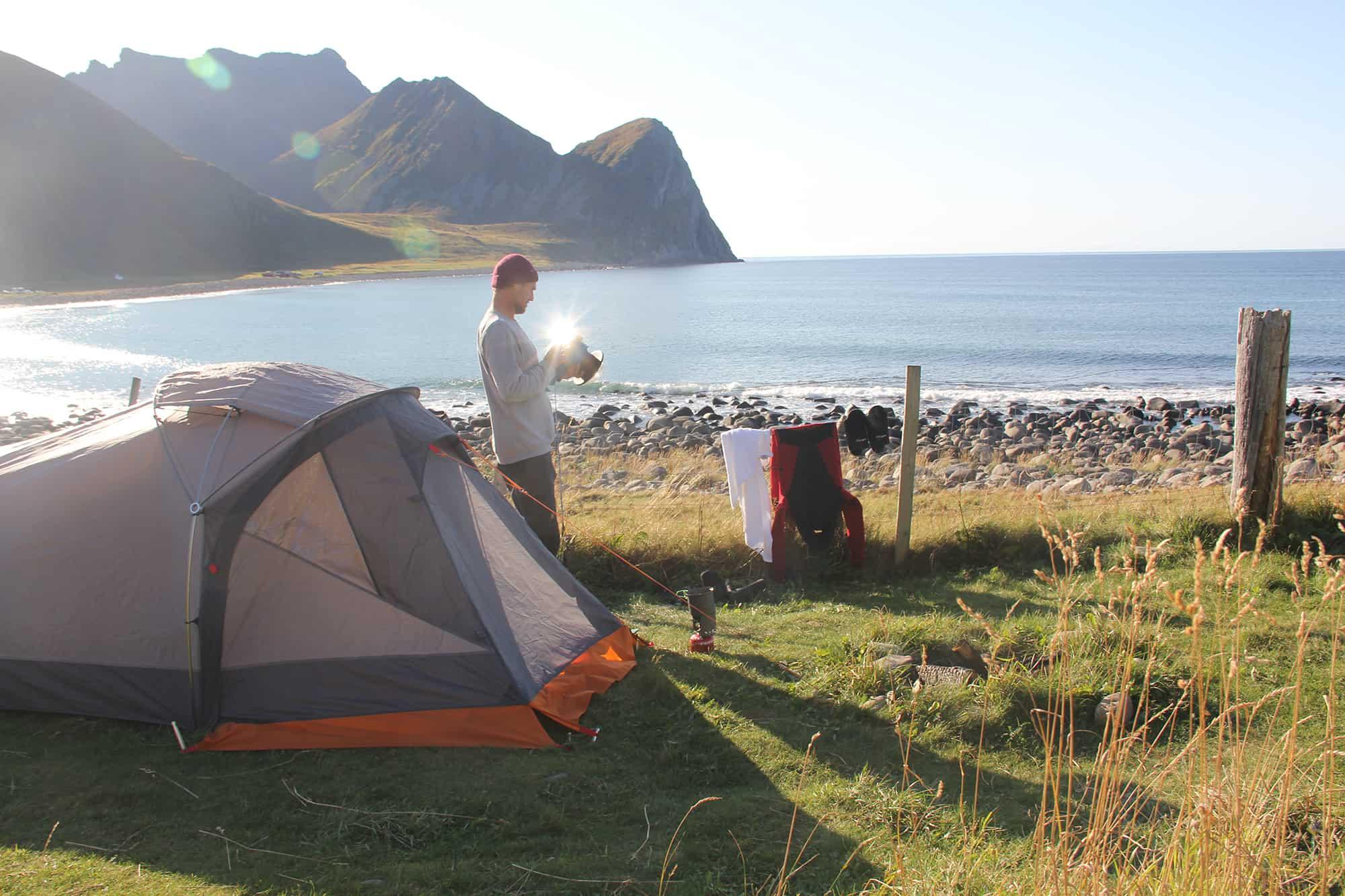 I love the seaside - Telte er en fantastisk måte å oppleve norge på
