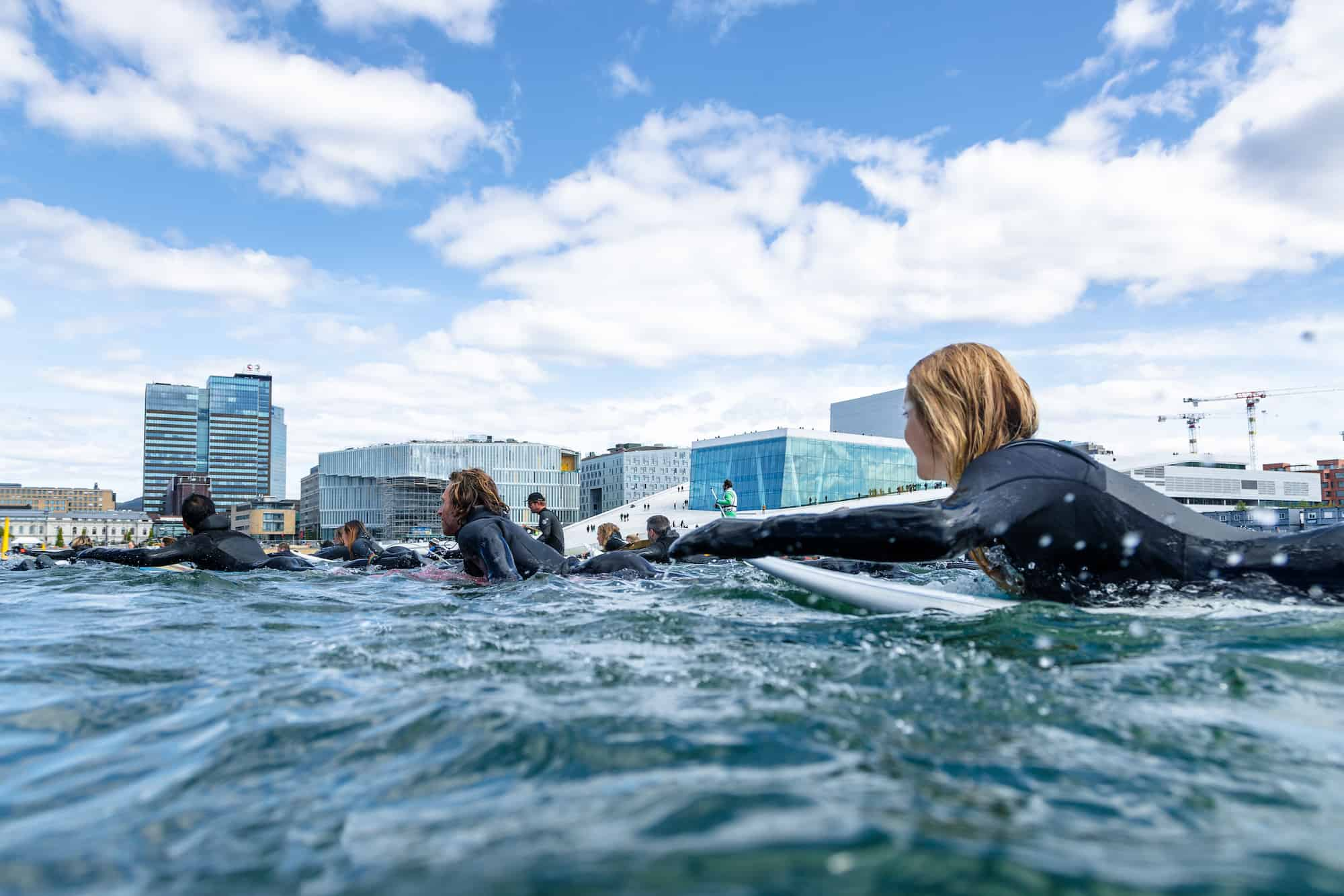 Paddle out mot Equinor Oslo