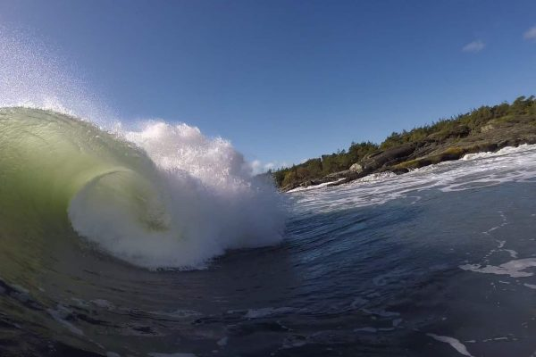 Slabsurfing the east coast of Norway
