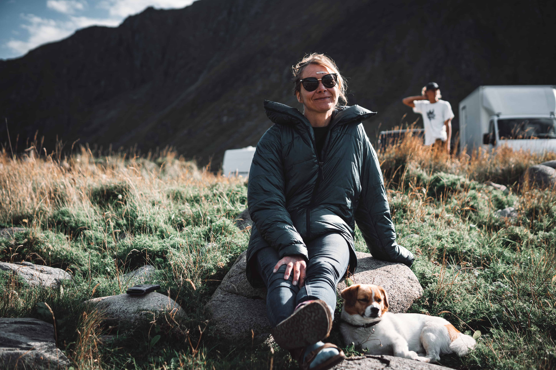 Heidi Neerbye nyter utsikten. Foto: Fredrikke Jerring