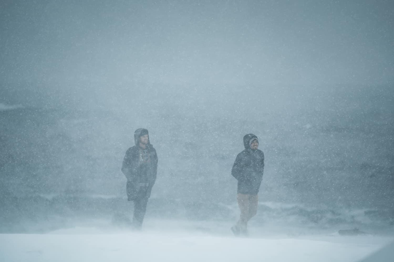Rusletur i snøstorm