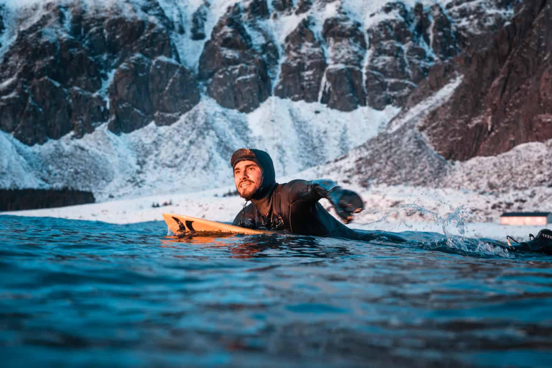 Sol og snø, en perfekt padletur ut