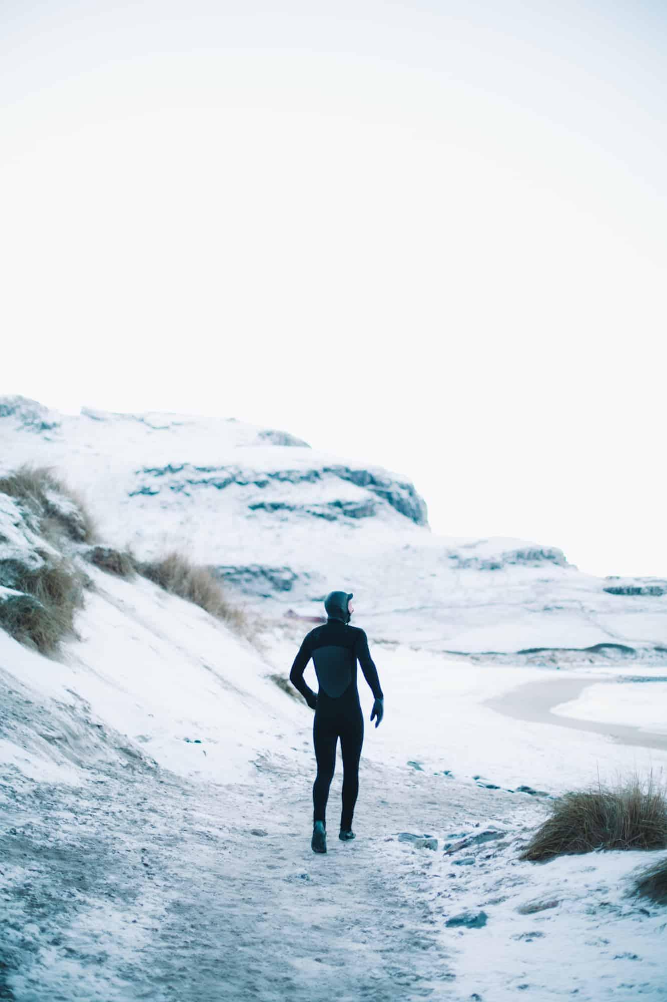 Surfsjekk ender som regel alltid opp i en lett adrenalinfylt jogg